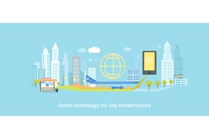 Smart Technology Infrastructure City