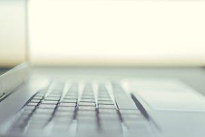 keyboard of laptop