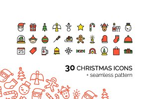 30 Сhristmas Icons + Pattern