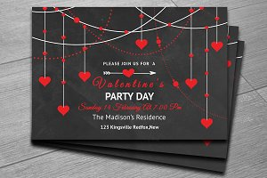 Valentines Day Party Invitation-V180