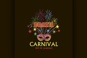 Brazilian Carnival logo and emblem