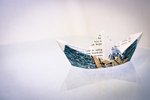 Paper Boat Sailing