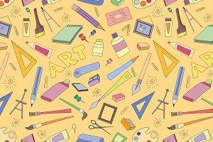 Doodle pattern of art
