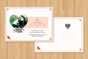 Valentine Day Card Template-V181