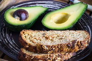Avocado and bread