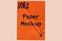 Dore - Wrinkle paper mockup by  in Mockups