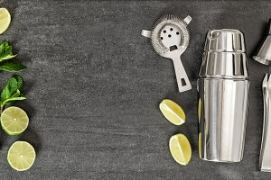 Drink making tools and ingredients
