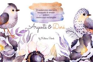 Argenté&Doré. Watercolor Set