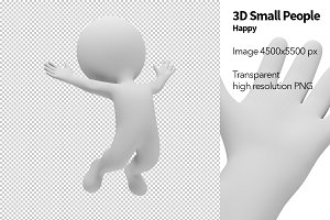 3D Small People - Happy