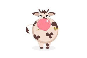 Funny cow. Vector Illustration
