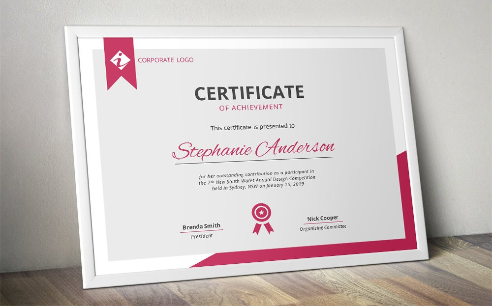 Modern MS Word certificate template ~ Stationery Templates ...