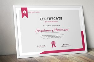 Modern MS Word certificate template