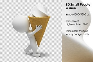 3D Small People - Ice-cream