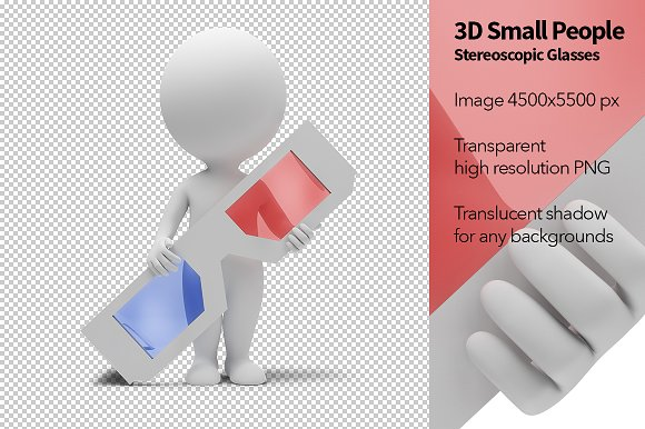3D Small People - Stereoscopic Glass
