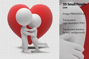 3D Small People - Love