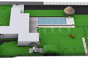 Front yard aerial view