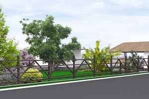 Property line landscaping