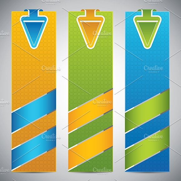 Set of universal banners in Illustrations
