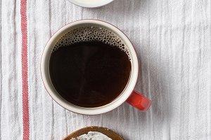 Bagel Coffee Cream Cheese Crock