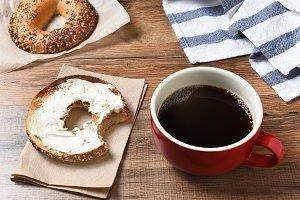Coffee Mug and Bagel