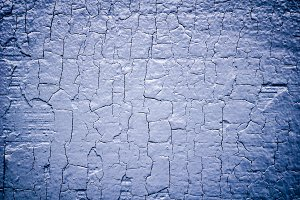 Blue cracked paint