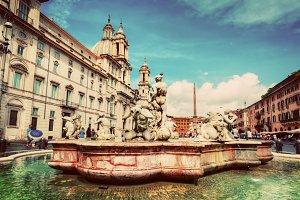 Piazza Navona, Rome, Italy.
