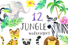 Sweet Jungle Watercolor Pack