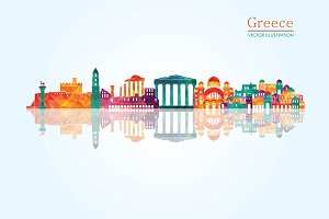 Greece detailed skyline.