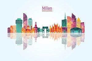 Milan detailed skyline.
