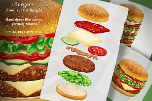 Burger / Food Set