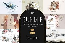 BUNDLE 3400+ in 1 Illustrations