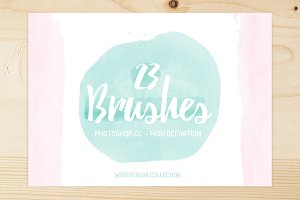 23 High quality watercolor brushes