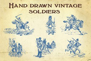 Hand Drawn Vintage Soldiers