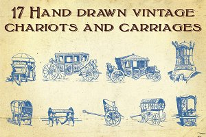 Hand Drawn Vintage Transportation