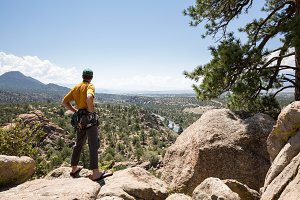 Adult climber overlooks Colorado