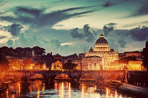Vatican City in the evening.