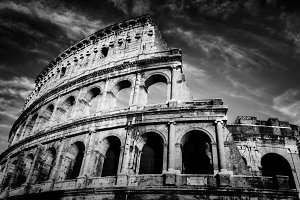 Colosseum in black & white.
