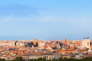 Panorama of the ancient city of Rome