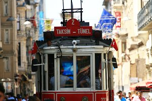 Old tram in Istanbul (Vertical)