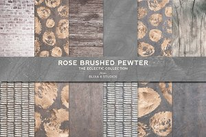 Rose Brushed Pewter & Painted Gold