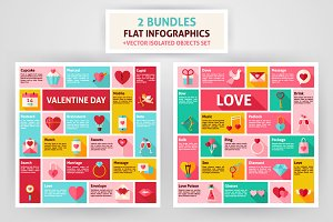 Valentine Day & Love Infographics