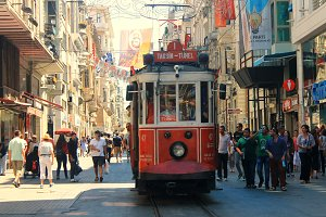 Old tram in Istanbul