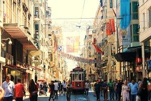 Street in Istanbul,Turkey