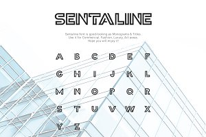 Sentaline logo and monogram font