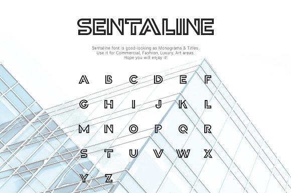 Sentaline logo and monogram font