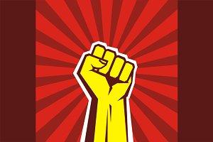 Human Hand Up Revolution