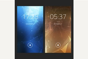 Mobile interface wallpaper design.