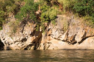 Adjacent river cliff
