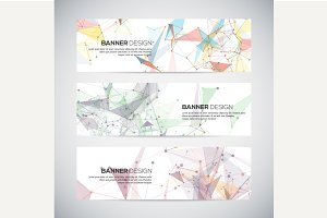 Abstract geometric banner design.