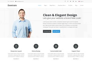 Dominate - Responsive HTML Template
